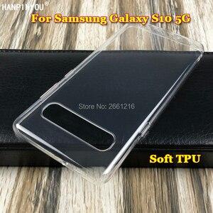 """Ультратонкий Мягкий ТПУ силиконовый гелевый прозрачный защитный чехол для камеры для samsung Galaxy S10 5G 6,7"""""""