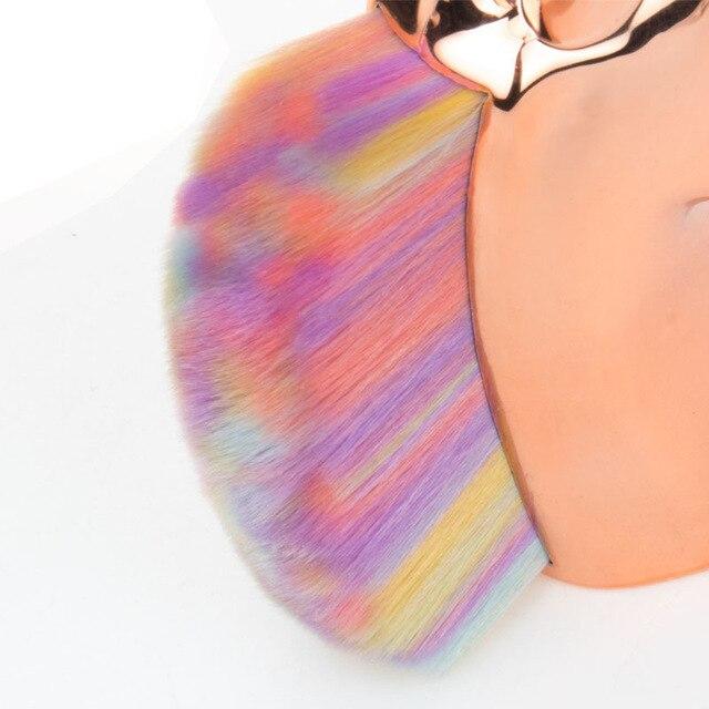 Makeup brushes unicorn powder foundation brush Plating handle Holder For Powder Foundation Blush Contour Big Make up Beauty Tool 5