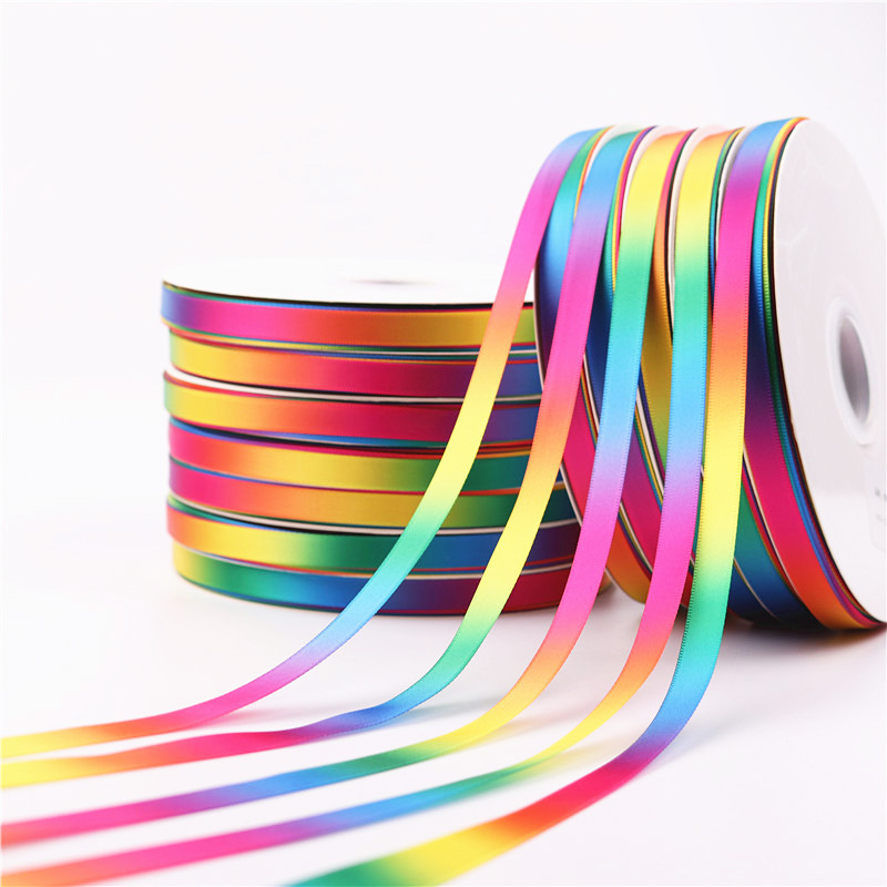 5Yards/Roll Best quality Silk Satin Ribbons arts crafts sewing ribbon handmade crafts materials gift wrap 10 mm