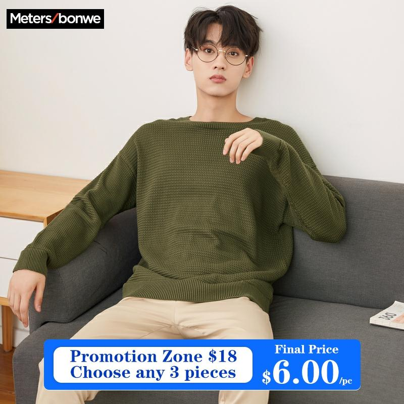 Metersbonwe Brand Knitted Sweater Men  Spring Autumn Fashion Long Sleeve Knitted Men Cotton Sweater High Quality Clothes 1