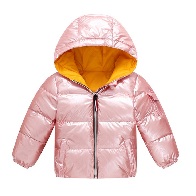 Fashion Boys coats winter jacket kids down cotton coat Waterproof snowsuit pink Gold silver jacket Hooded parka girls down coats