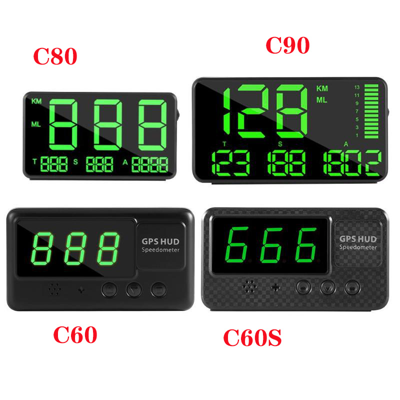 New <font><b>GPS</b></font> Speedometer C90 C80 <font><b>C60</b></font> C60S Driving Time Speed Hud Display KM/h For Car Bike Motorcycle Universal <font><b>GPS</b></font> Overspeed Alarm image