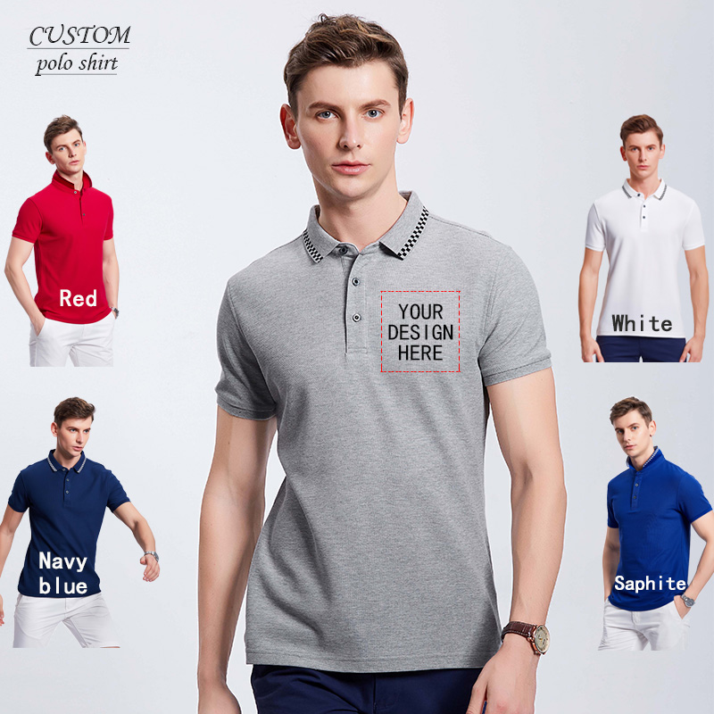Embroidered Polo Shirt  embroidered business polo shirts, custom Logo shirts , embroidery | or Text