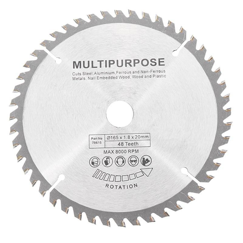 165mm 48 Teeth Circular Saw Blade Tungsten Steel Saw Blade For Woodworking Cutting Durable