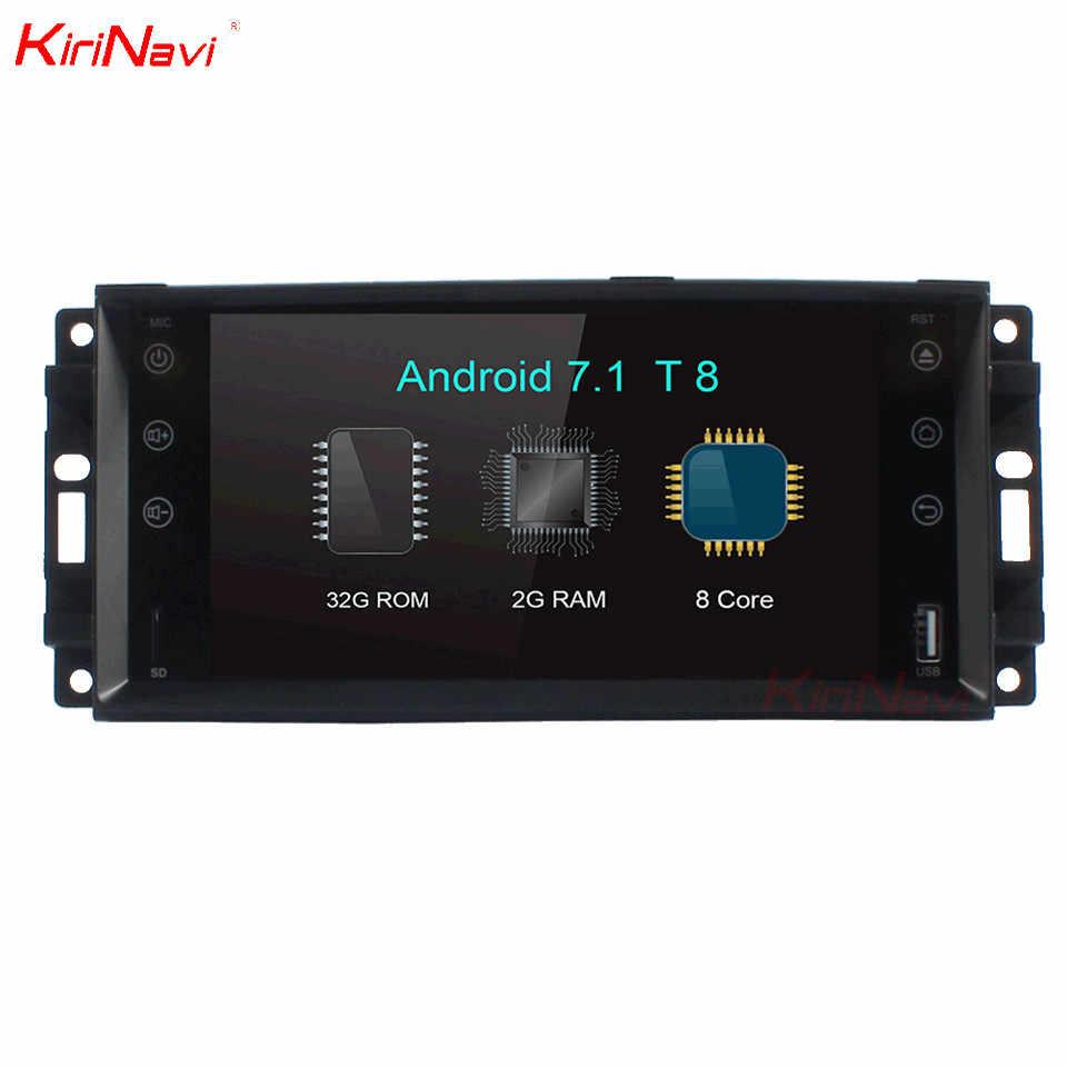 "KiriNavi 7 ""octa core Android 7.1 samochodowy odtwarzacz dvd dla JEEP Wrangler Radio kompas Patriot Grand Cherokee dowódca Stereo Audio radioodtwarzacz"