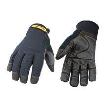 100% luvas de trabalho impermeáveis, à prova de vento, quentes, de alta qualidade, confortáveis e resistentes ao desgaste (preto, x-large)
