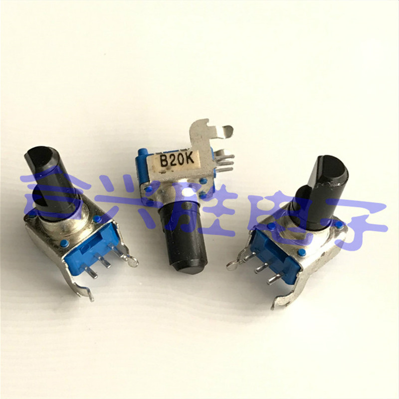 Роторный потенциометр RK09K, один усилитель мощности B20K/B203, звуковой потенциометр, длина вала 13 м, 10 шт.