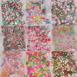 Mixed Resin Pearl Beads Polymer Clay Slices Sprinkles For Fluffy Clear Slime Clay Mud Filling Resin Epoxy DIY Filler Christmas