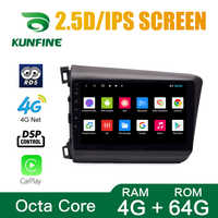 Octa Core Android 8.1 Car DVD GPS Navigation Player Deckless Car Stereo for Honda Civic 2012-2015 Radio Headunit Wifi