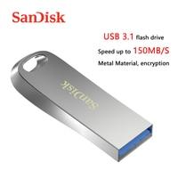 سانديسك USB 3.1 فلاش حملة 150 برميل/الثانية معدن بندريف 256GB 128GB U القرص 64GB 32GB ذاكرة عصا 16GB CZ74 USB 3.0 القلم محرك مفتاح