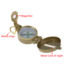 Compass Metal Ruler-Set Sighting Band Prismatic Camping-Supplies Military 1pcs Magnifying