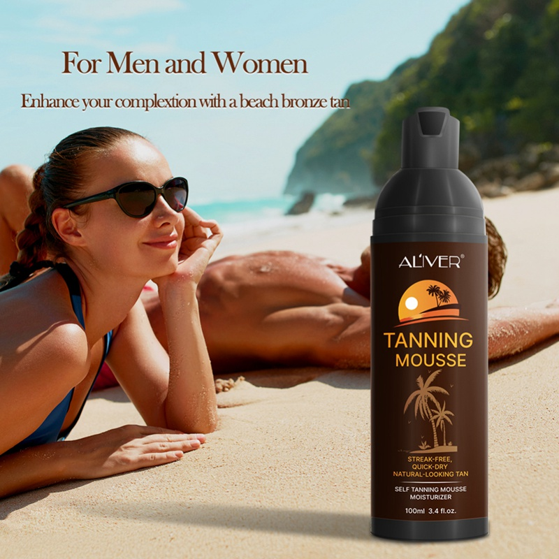 100ml Hot Sun Tan Cream Color Stay Bronze Self SunTan Solarium Mousse For Day Tanning Sun Block Makeup Foundation Tanner Lotion