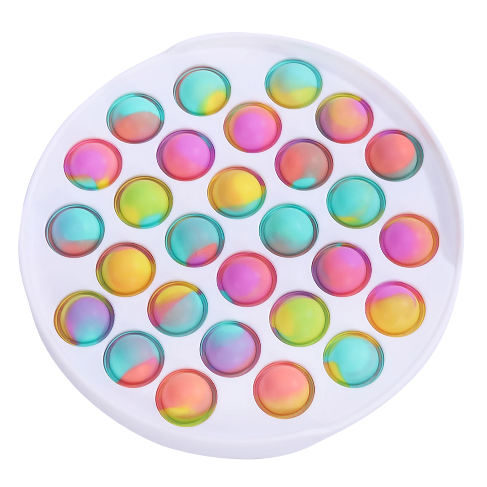 Fidget-Sensory-Toy Game-Stress Bubble Pops Squishy-Pops Special Needs Rainbow-Push Relief