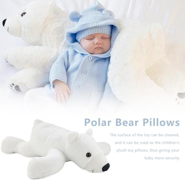 Plush Polar Bear Squishy Stuffed Toy Children Soft Lightweight Plush Toy Kids Babies Polar Bear Plush Toy for Pretend Play