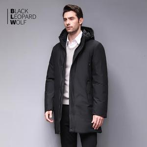 Image 2 - Blackleopardwolf 2019 Winter Men Coat Detachable Hood Warm Jacket Cotton Padded Winter down jacket Men Clothes BL 852