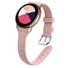 Universal 20mm Quick Release Dünne Leder Band für Samsung Galaxy Uhr 3 41mm Aktive 2 44mm 40mm S4 Frauen Mädchen Armband Strap