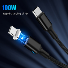 Magnetyczny podwójny typ C kabel 5A PD szybki przewód ładujący do notebooka 20V 100W typ C kabel danych do Samsung S9 S8 do Huawei P20