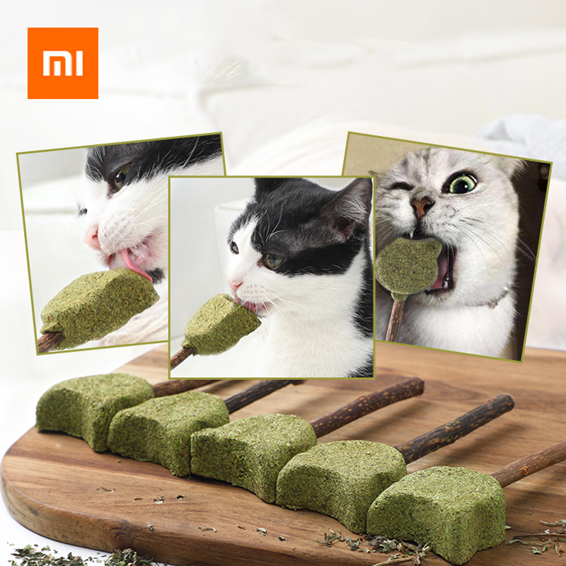 Xiaomi Pet Products Cat Mint Toothpaste Stick Catnip Natural Mutian Stick Catnip Lollipop Cats Kittens Chewing Bite Snacks