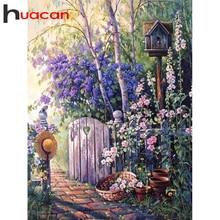 Huacan broca completa quadrado & round pintura diamante paisagem diy venda bordado decoração do jardim para casa