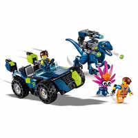 FILM 2 Rex Rex-treme Offroader Dinosaurier Auto Bausteine Kit Bricks Classic Film Modell Kinder Spielzeug Für kinder Geschenk