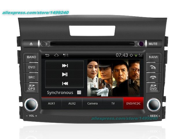 Car Android <font><b>Multimedia</b></font> For <font><b>Honda</b></font> <font><b>CRV</b></font> CR-V <font><b>2012</b></font> 2013 2014 GPS Navigation System CD DVD Player Radio Audio Video Stereo HD Screen image