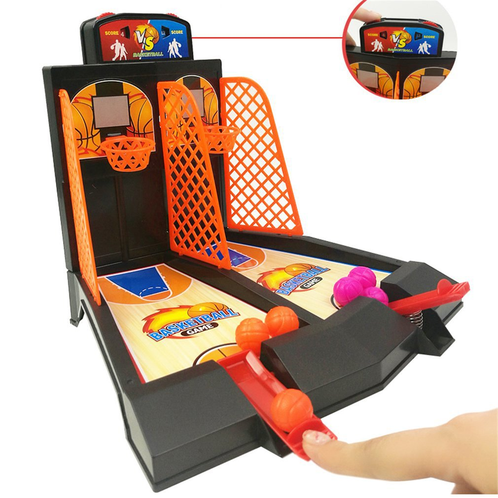 Boys And Girls Double Play Basketball Toy Children'S Finger Ejection Basketball Court Desktop Shooting Parent-Child Game