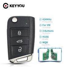 Дистанционный ключ KEYYOU, 434 МГц, MQB ID48, для VW Seat Golf 7 MK7 Touran Polo Tiguan 5G6959752AB, 3 кнопки