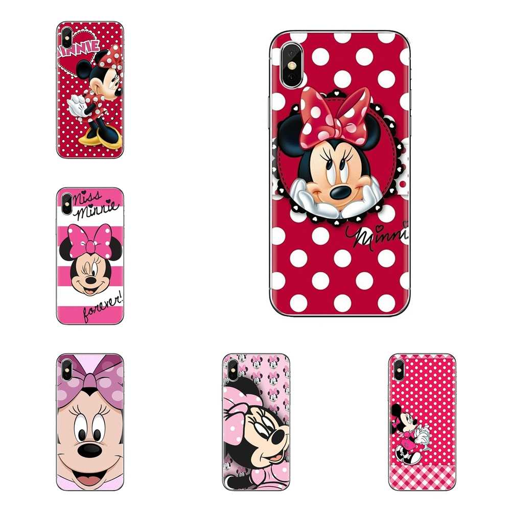 Leuke cartoon Minnie mouse Voor Sony Xperia Z Z1 Z2 Z3 Z5 compact M2 M4 M5 C4 E3 T3 XA huawei Mate 7 8 Y3II Soft Transparant Cover