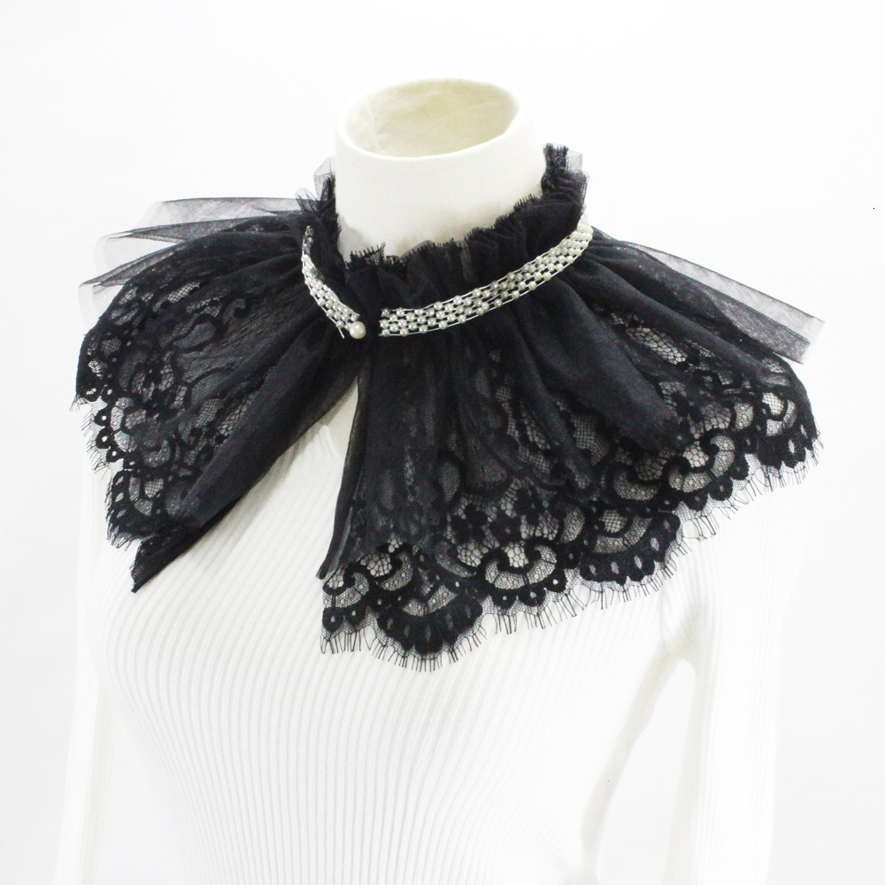 Shawl Dickie Sweater Loose Coat Decoration Lead Lace Doll Fake Collar Detachable New Free Shipping Necklace Shirt Women