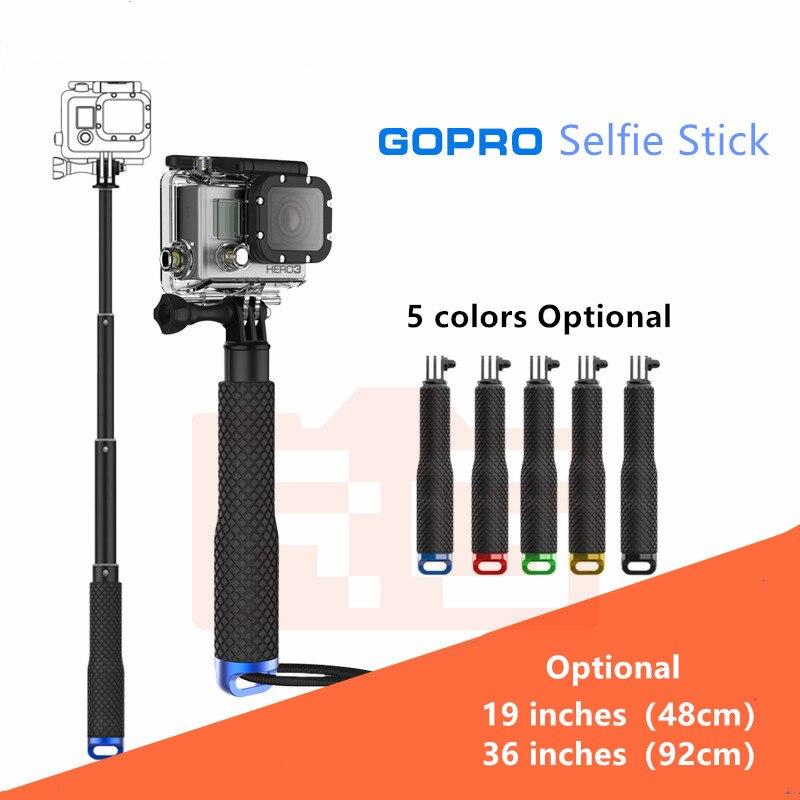 Универсальный раздвижной ручной монопод для Go Pro, селфи-Палка для Gopro HERO 5 4 6 7 3 + 3 2 1 SJ4000, монопод для Xiaomi Yi