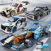 Building Blocks Technic Car Creator city block race car model moc bricks Toys For Children gifts new sembo block engineering city construction container truck fit technic building blocks toys bricks toys for children kid gift