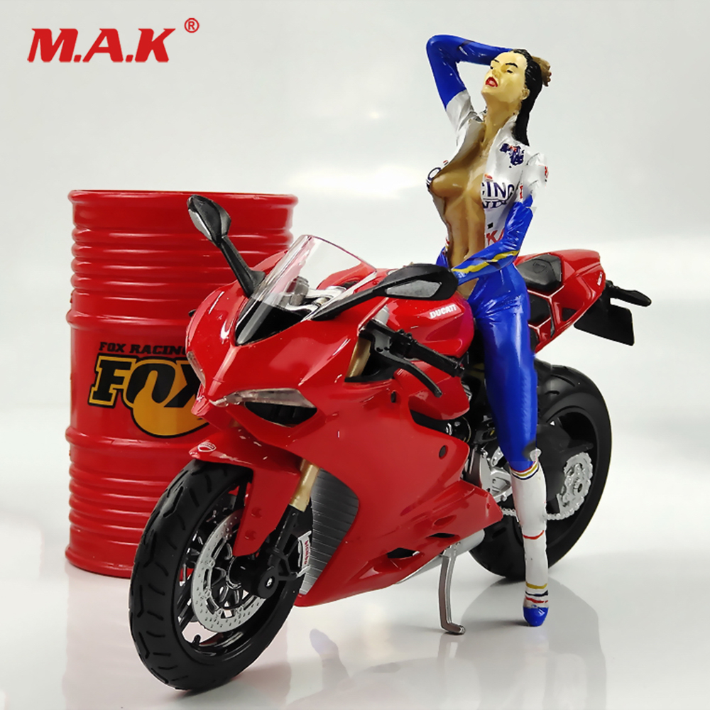 Maisto Red Color 1/12 Scale Solider Figure Scene Accessories Racer Motorcycle Mini Bike Model for Fans Gifts image