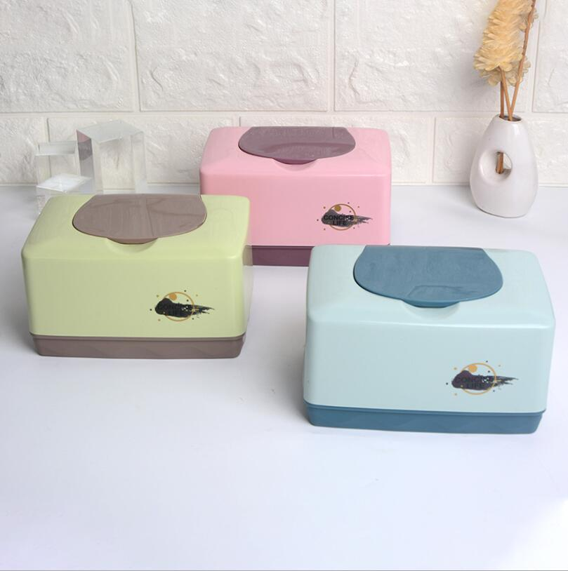 Cute Plastic Baby Wet Wipes Box Tissue Organizer Napkin Holder For Desinfecting Wipes Hotel Supplies WTB04