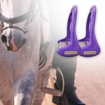 1 Pair Pedal Equipment Horse Stirrups Anti Slip Equestrian Safety Aluminium Alloy Riding Treads Lightweight Outdoor Sports