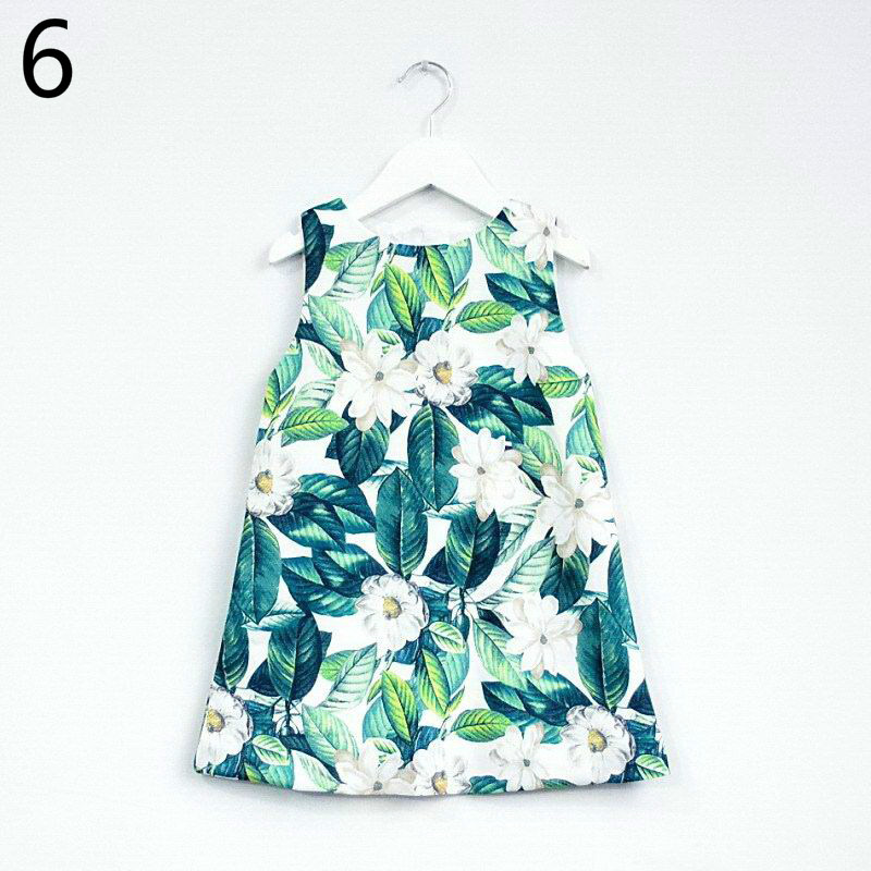 143-13-Girls Flower Princess Sundress