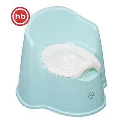 Orinal y asientos Happy Baby 34018, orinal para bebé, almohadilla en el inodoro para niños, inodoro de plástico azul