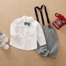 Malapina macacão recém-nascido do bebê menino gentlman terno macacão de algodão roupa infantil com gravata da criança conjunto