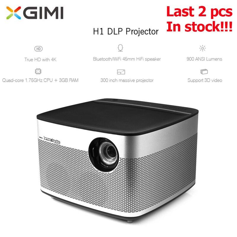 Projecteur d'origine XGIMI H1 900ANSI Lumens DLP Home cinéma 2.4 GHz/5 GHz Wifi 3GB 16GB 1920*1080P Full HD projecteur 3D 300 pouces