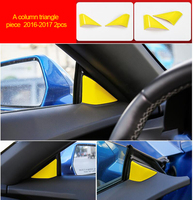 For Chevrolet Camaro Bumblebee 2016 2017 chrome yellow color A column triangle trim 2pcs|Chromium Styling|Automobiles & Motorcycles -