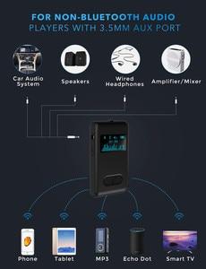 Image 2 - Auto ON Bluetooth 5.0 odbiornik wyświetlacz LCD 3.5mm AUX Jack RCA muzyka Stereo Adapter bezprzewodowy do głośnika samochodowy sprzęt Audio nadajnik