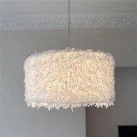 Moderno colgante con diseño de plumas simuladas luces de sala de estar dormitorio lámpara colgante de tela accesorios de decoración del hogar iluminación creativa Luminaria|Luces colgantes|Luces e iluminación -