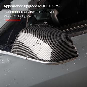 Lusterka wsteczne z włókna węglowego osłony osłony boczne osłony lusterek bocznych do modyfikacji zewnętrznej Tesla Model 3 tanie i dobre opinie CN (pochodzenie)