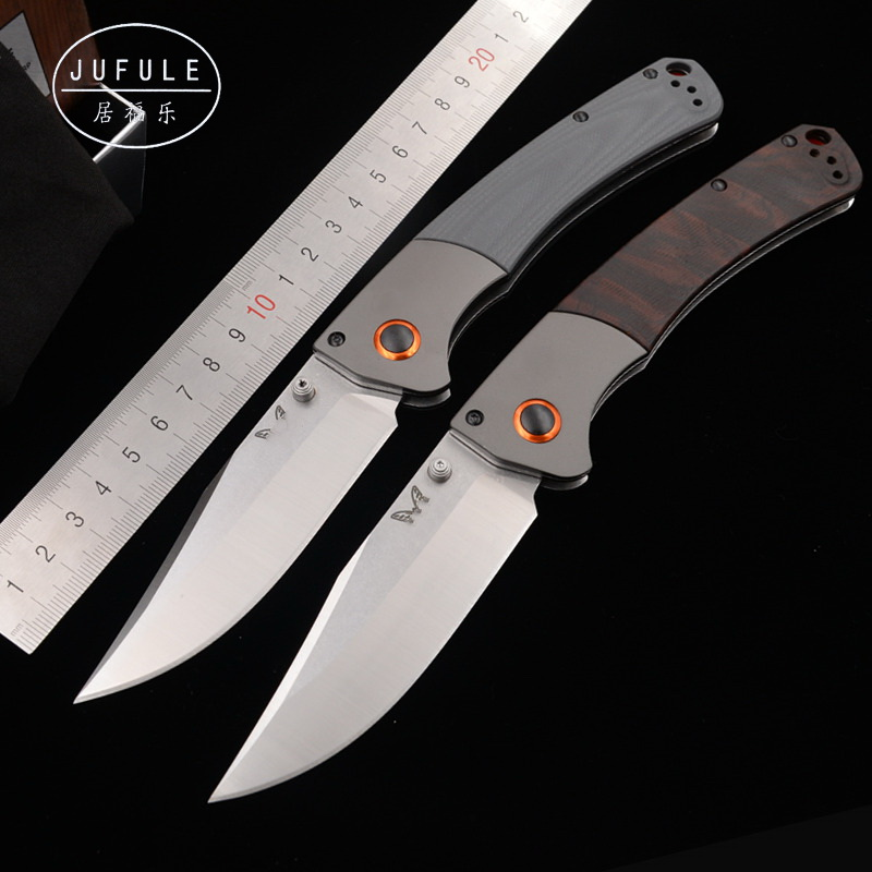 JUFULE Made 15080 Aluminium + Dymond wood handle D2 Blade folding Survival outdoor hunting kitchen pocket EDC Tool camping <font><b>knife</b></font> image