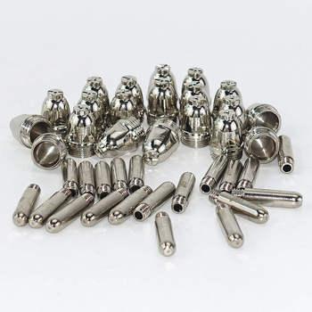 цена 40pcs AG60 Plasma Cutting Torch Consumable SG55 Plasma Cutter Kit 60A AG-60 Plasma Torch Tip Electrode Nozzle онлайн в 2017 году