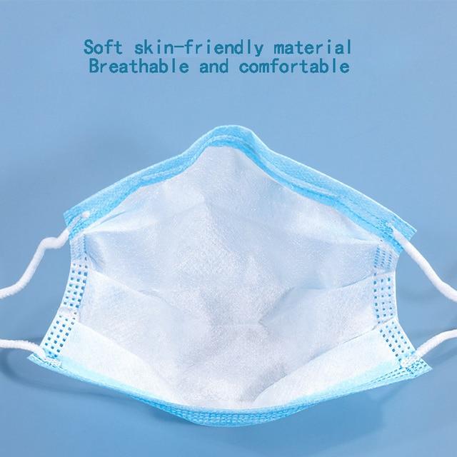 Child Mask Child protection mask Kids Face Mouth Masks 30/50pcs 3 layers Non-woven Disposable Meltblown Cloth Anti-Dust masks 2