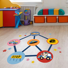 Cartoon Wall Floor Stickers For Kids Play Games Of Police And Thief Home Decor Living Room Kids Room Decoration Stickers TL0507