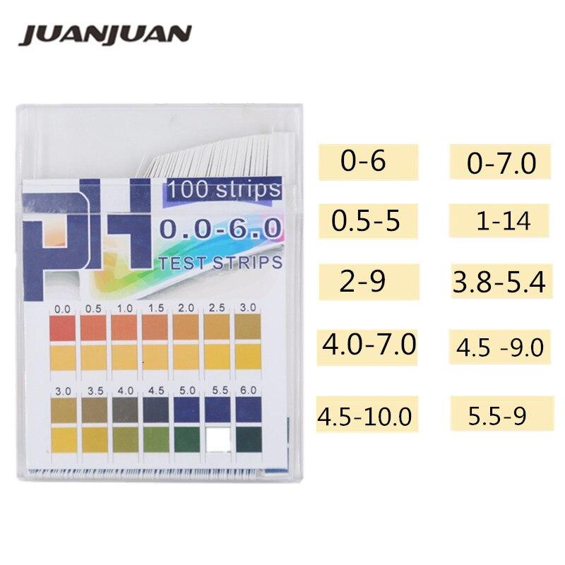 100 Strips/box PH Test Strips Full Range Scale Premium Litmus Tester Paper Ideal For Test PH Level Of Water 40%Off