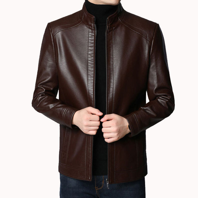 Brand Men Jacket 2020 New Spring Fall Soft Leather Jackets For Man Clothing Long Sleeves Coat Fashion Korean Style Thin Clothing 2