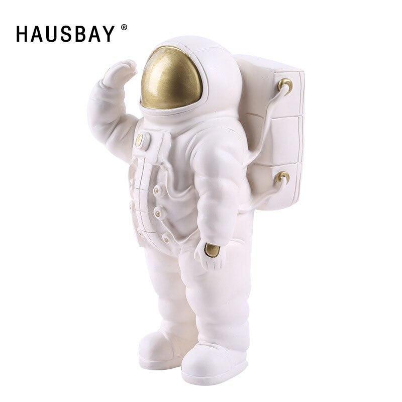 Resin Space Man Sculpture Astronaut Model Ornament Phone Rack Cosmonaut Statue Nordic Creative Crafts Home Decor Figurine D099