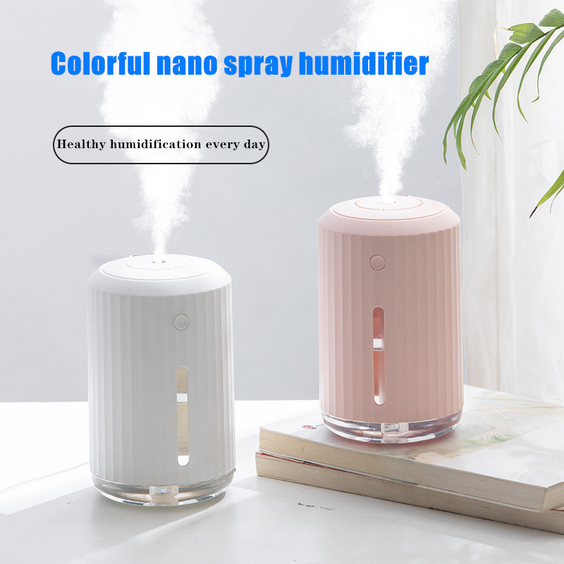 Home Ultrasonic Air Humidifier USB Aroma Essential Oil Diffuser with LED Lights for Bedroom Car Office Aromatherapy